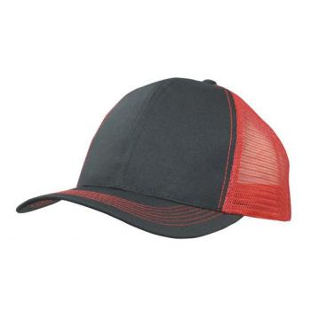 6 Panel Poly Twill Cap with Mesh Back (Trucker style)