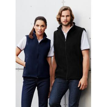 Mens Plain Micro Fleece Vest