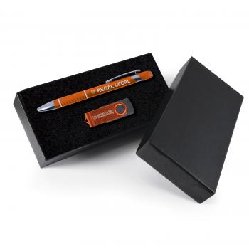 Style Gift Set - Miami Pen and Swivel Flash Drive
